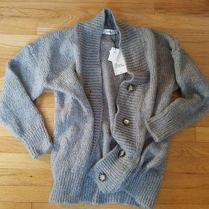 ZARA knit grey cardigan